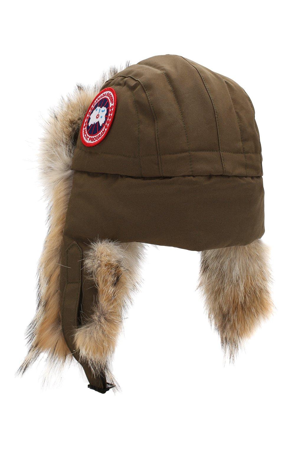 Женская шапка-ушанка CANADA GOOSE хаки цвета, арт. 5187L | Фото 2