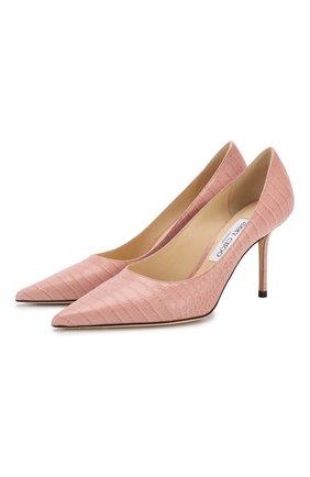 Женская кожаные туфли love 85 JIMMY CHOO розового цвета, арт. L0VE 85/CCL | Фото 1