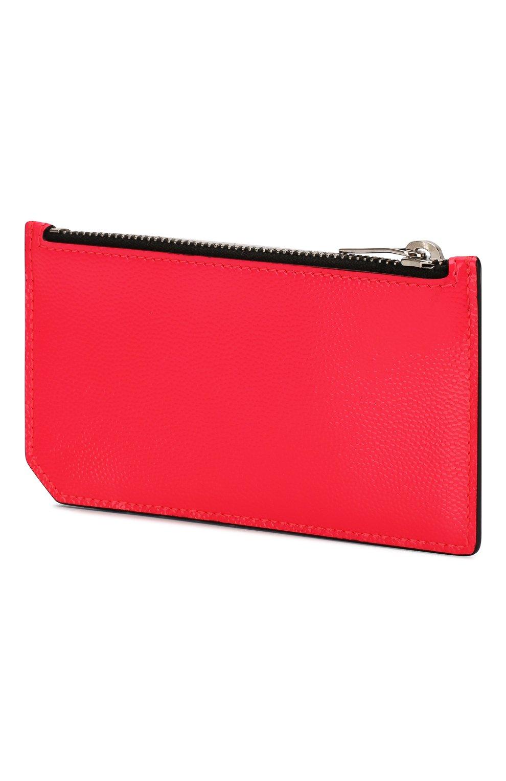 Женский кожаный футляр для кредитных карт SAINT LAURENT розового цвета, арт. 458583/1DJ2N | Фото 2