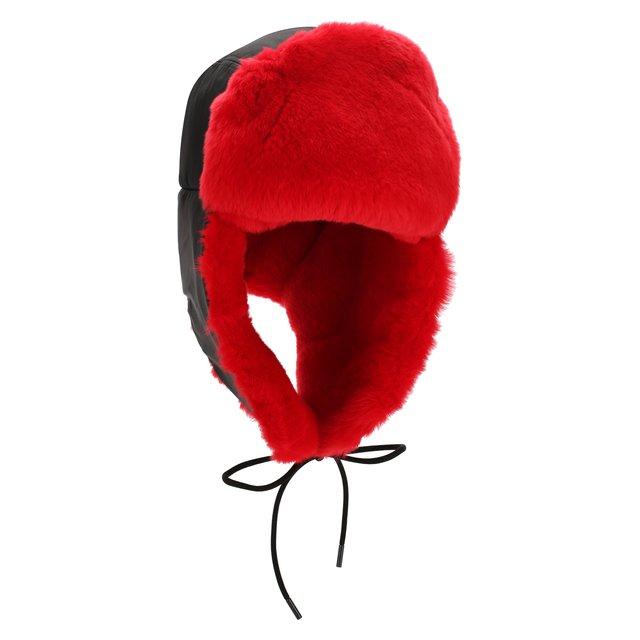 Шапка-ушанка с мехом кролика Valentino