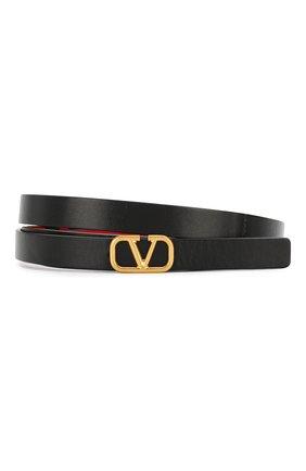 Кожаный ремень Valentino Garavani VLOGO | Фото №1