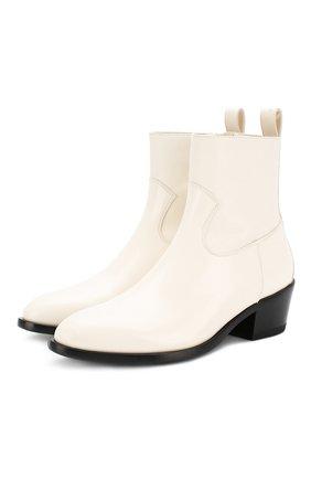 Женские кожаные ботинки jesse JIMMY CHOO кремвого цвета, арт. JESSE/F/XXC | Фото 1