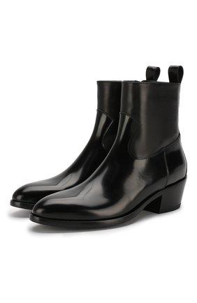 Женские кожаные ботинки jesse JIMMY CHOO черного цвета, арт. JESSE/F/XXC | Фото 1