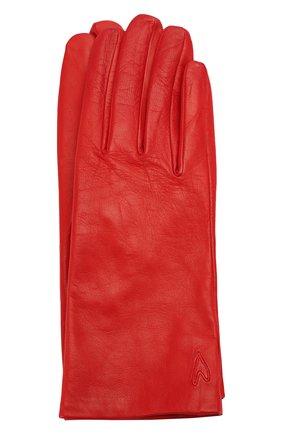 Женские кожаные перчатки ESCADA SPORT красного цвета, арт. 5032592 | Фото 1