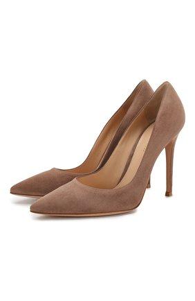 Замшевые туфли Gianvito 105 | Фото №1