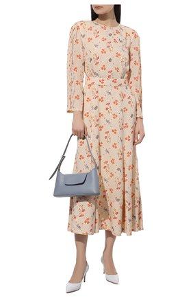 Женские кожаные туфли gianvito 70 GIANVITO ROSSI белого цвета, арт. G26770.70RIC.VITBIAN   Фото 2 (Каблук высота: Средний; Материал внутренний: Натуральная кожа; Подошва: Плоская; Каблук тип: Шпилька)