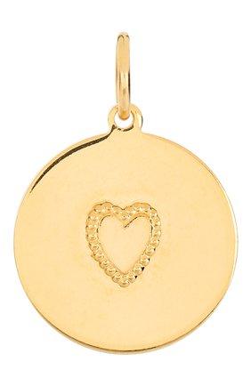Женская подвеска HYPSO золотого цвета, арт. MEDAL HEART RELIEF | Фото 1