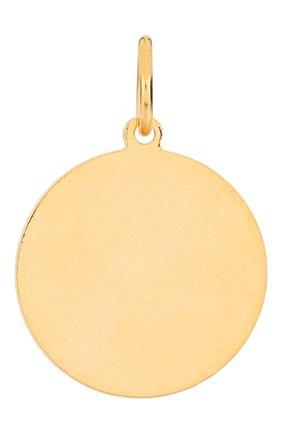 Женская подвеска HYPSO золотого цвета, арт. MEDAL HEART RELIEF   Фото 2