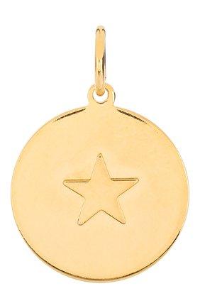 Женская подвеска HYPSO золотого цвета, арт. MEDAL STAR RELIEF | Фото 1