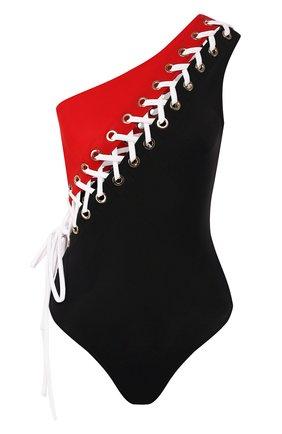 Женский слитный купальник со шнуровкой OYE разноцветного цвета, арт. CHARL0TTE | Фото 1