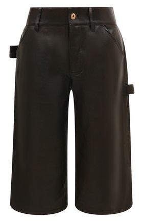 Женские кожаные шорты BOTTEGA VENETA коричневого цвета, арт. 572068/VF3G0 | Фото 1