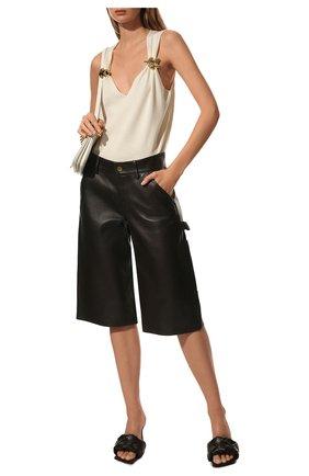 Женские кожаные шорты BOTTEGA VENETA коричневого цвета, арт. 572068/VF3G0 | Фото 2