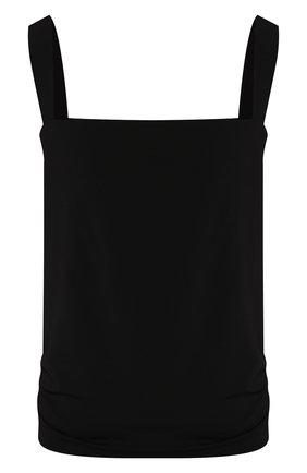 Женская топ из смеси вискозы и шелка LA PERLA черного цвета, арт. 0044820 | Фото 1