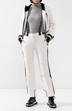 Женские утепленные брюки GIORGIO ARMANI белого цвета, арт. 6GAP85/AN92Z | Фото 2 (Материал внешний: Синтетический материал; Материал утеплителя: Шерсть; Женское Кросс-КТ: Брюки-одежда; Длина (брюки, джинсы): Стандартные; Силуэт Ж (брюки и джинсы): Прямые)
