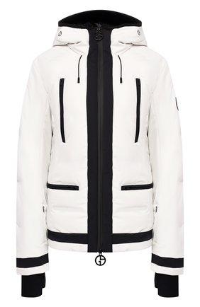 Женская куртка с капюшоном GIORGIO ARMANI белого цвета, арт. 6GAG85/AN92Z | Фото 1