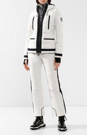 Женская куртка с капюшоном GIORGIO ARMANI белого цвета, арт. 6GAG85/AN92Z | Фото 2