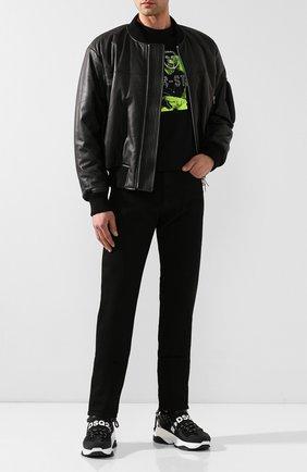 Мужские джинсы HELMUT LANG черного цвета, арт. I07DM209 | Фото 2