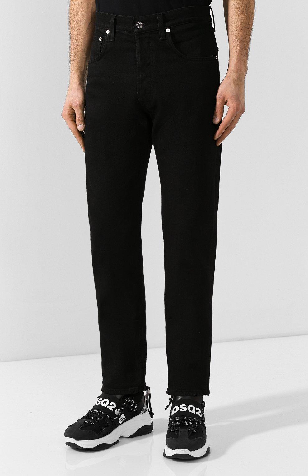 Мужские джинсы HELMUT LANG черного цвета, арт. I07DM209 | Фото 3