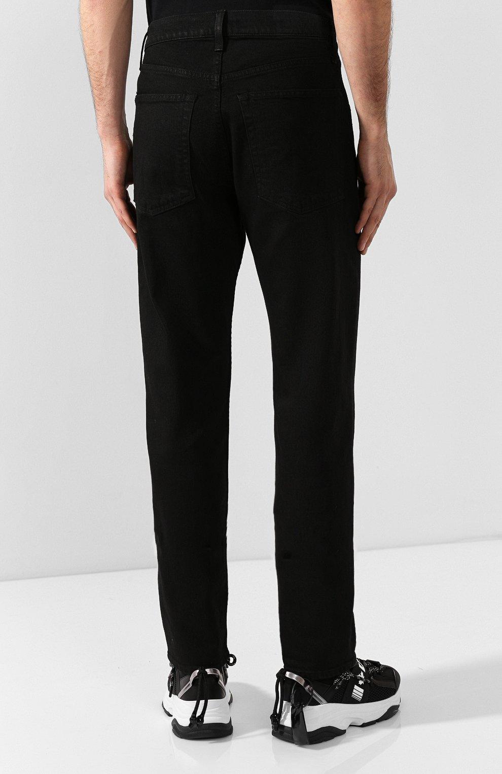 Мужские джинсы HELMUT LANG черного цвета, арт. I07DM209 | Фото 4