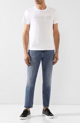 Мужская хлопковая футболка DIESEL белого цвета, арт. 00S4E2/0PATI | Фото 2