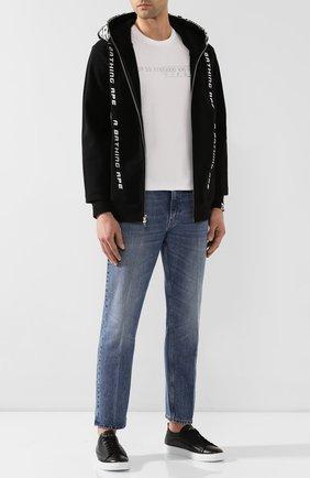 Мужские кожаные кеды H`D`S`N BARACCO черного цвета, арт. BRYAN.24* | Фото 2