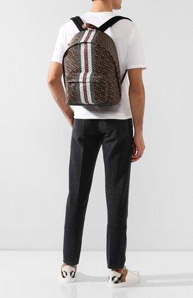 Мужской рюкзак BURBERRY коричневого цвета, арт. 8021277 | Фото 2