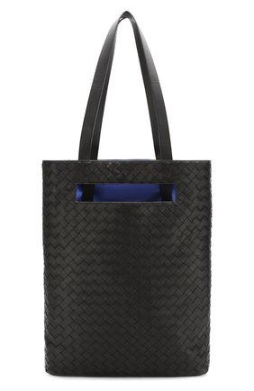 Мужская кожаная сумка-тоут BOTTEGA VENETA черного цвета, арт. 591239/V00BL | Фото 1