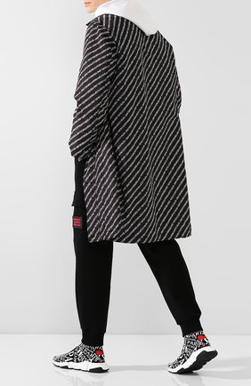 Мужские текстильные кроссовки speed BALENCIAGA черно-белого цвета, арт. 593617/W1791 | Фото 2