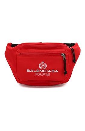 Мужская текстильная поясная сумка explorer BALENCIAGA красного цвета, арт. 482389/9WB55 | Фото 1