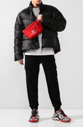 Мужская текстильная поясная сумка explorer BALENCIAGA красного цвета, арт. 482389/9WB55 | Фото 2