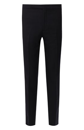 Мужские шерстяные брюки RALPH LAUREN темно-синего цвета, арт. 798730107 | Фото 1 (Материал внешний: Шерсть; Материал подклада: Вискоза; Случай: Формальный; Стили: Классический)