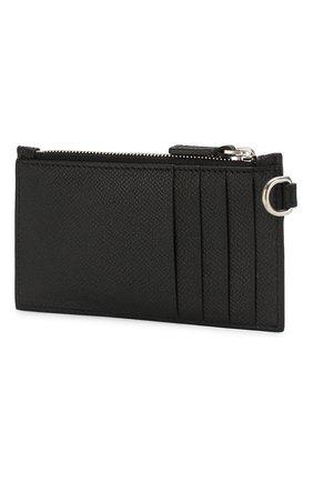 Мужской кожаный футляр для кредитных карт BALENCIAGA черно-белого цвета, арт. 594548/00TV3 | Фото 2