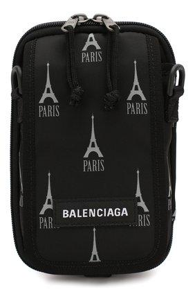 Мужская текстильная сумка explorer BALENCIAGA черно-белого цвета, арт. 593329/9ELF5 | Фото 1