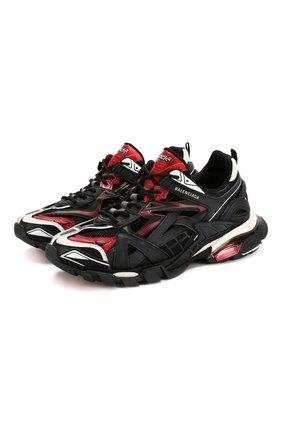 Мужские комбинированные кроссовки track.2 BALENCIAGA красного цвета, арт. 568614/W2GN3   Фото 1