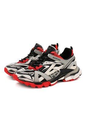 Мужские комбинированные кроссовки track.2 BALENCIAGA серого цвета, арт. 568614/W2GN3 | Фото 1