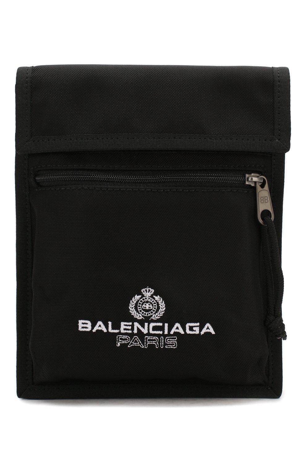 Мужская текстильная сумка explorer BALENCIAGA черного цвета, арт. 532298/9WB85 | Фото 1