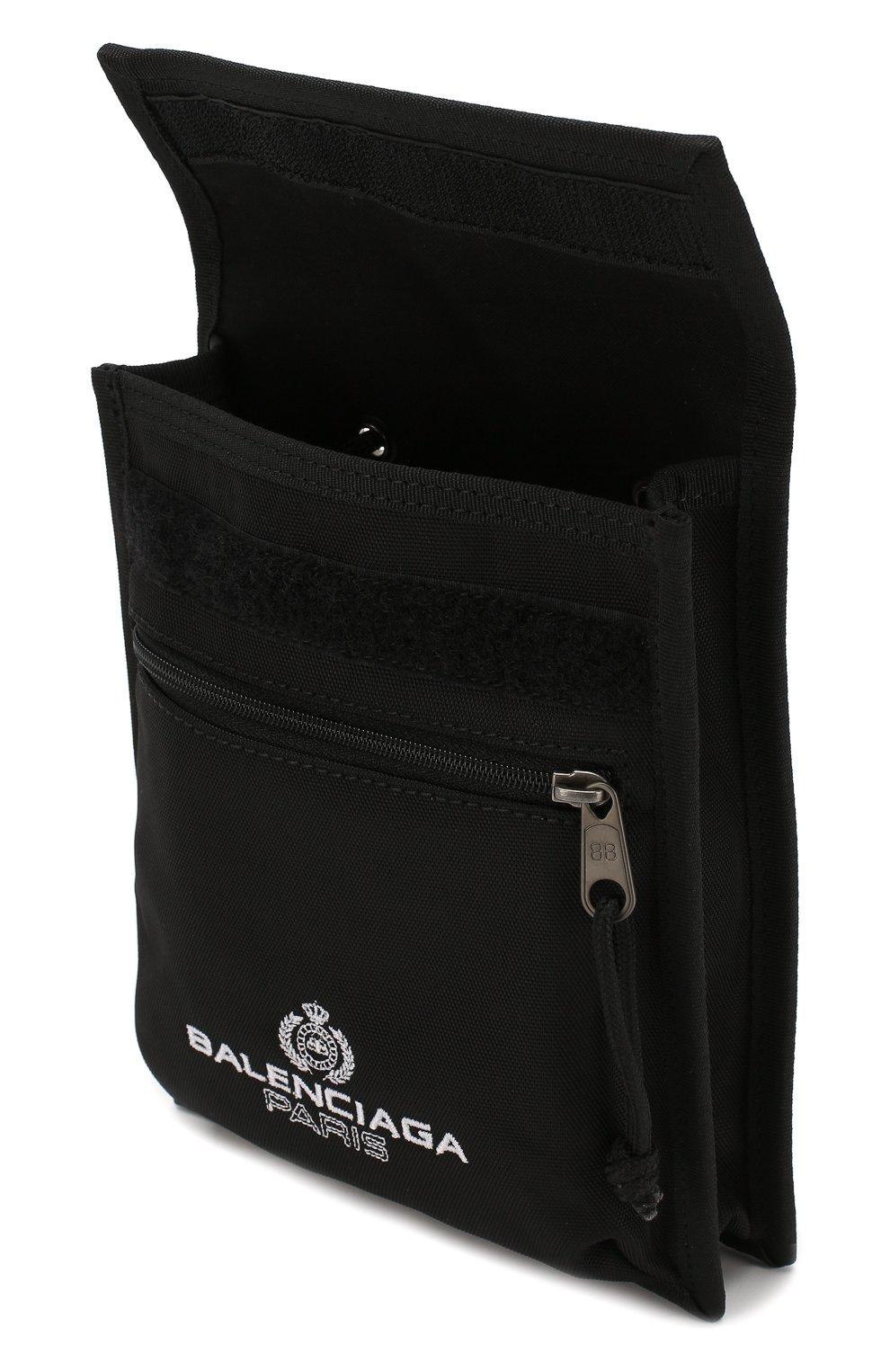 Мужская текстильная сумка explorer BALENCIAGA черного цвета, арт. 532298/9WB85 | Фото 4