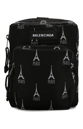 Мужская текстильная сумка explorer BALENCIAGA черно-белого цвета, арт. 593651/9ELF5 | Фото 1