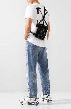 Мужская текстильная сумка explorer BALENCIAGA черно-белого цвета, арт. 593651/9ELF5 | Фото 2