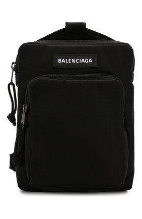 Мужская текстильная сумка explorer BALENCIAGA черного цвета, арт. 593651/9TY45 | Фото 1
