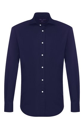 Мужская хлопковая сорочка RALPH LAUREN темно-синего цвета, арт. 791769934 | Фото 1