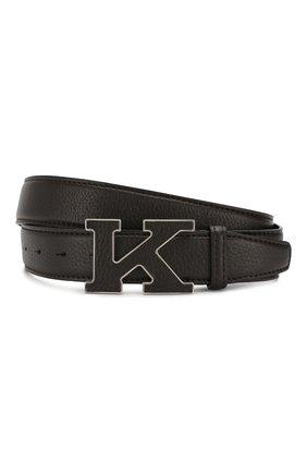 Мужской кожаный ремень KITON коричневого цвета, арт. USC20PN00126 | Фото 1
