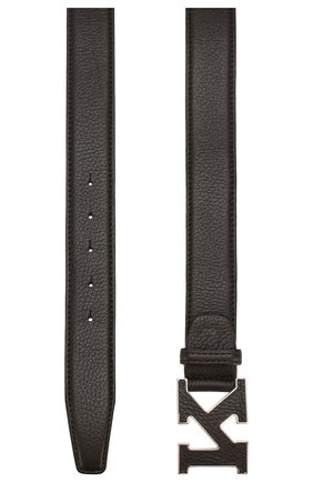 Мужской кожаный ремень KITON коричневого цвета, арт. USC20PN00126 | Фото 2
