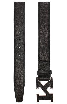 Мужской кожаный ремень KITON черного цвета, арт. USC20PN00126 | Фото 2