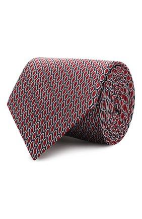Мужской шелковый галстук GIORGIO ARMANI красного цвета, арт. 360054/9A951 | Фото 1