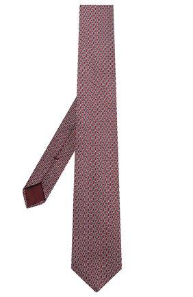 Мужской шелковый галстук GIORGIO ARMANI красного цвета, арт. 360054/9A951 | Фото 2