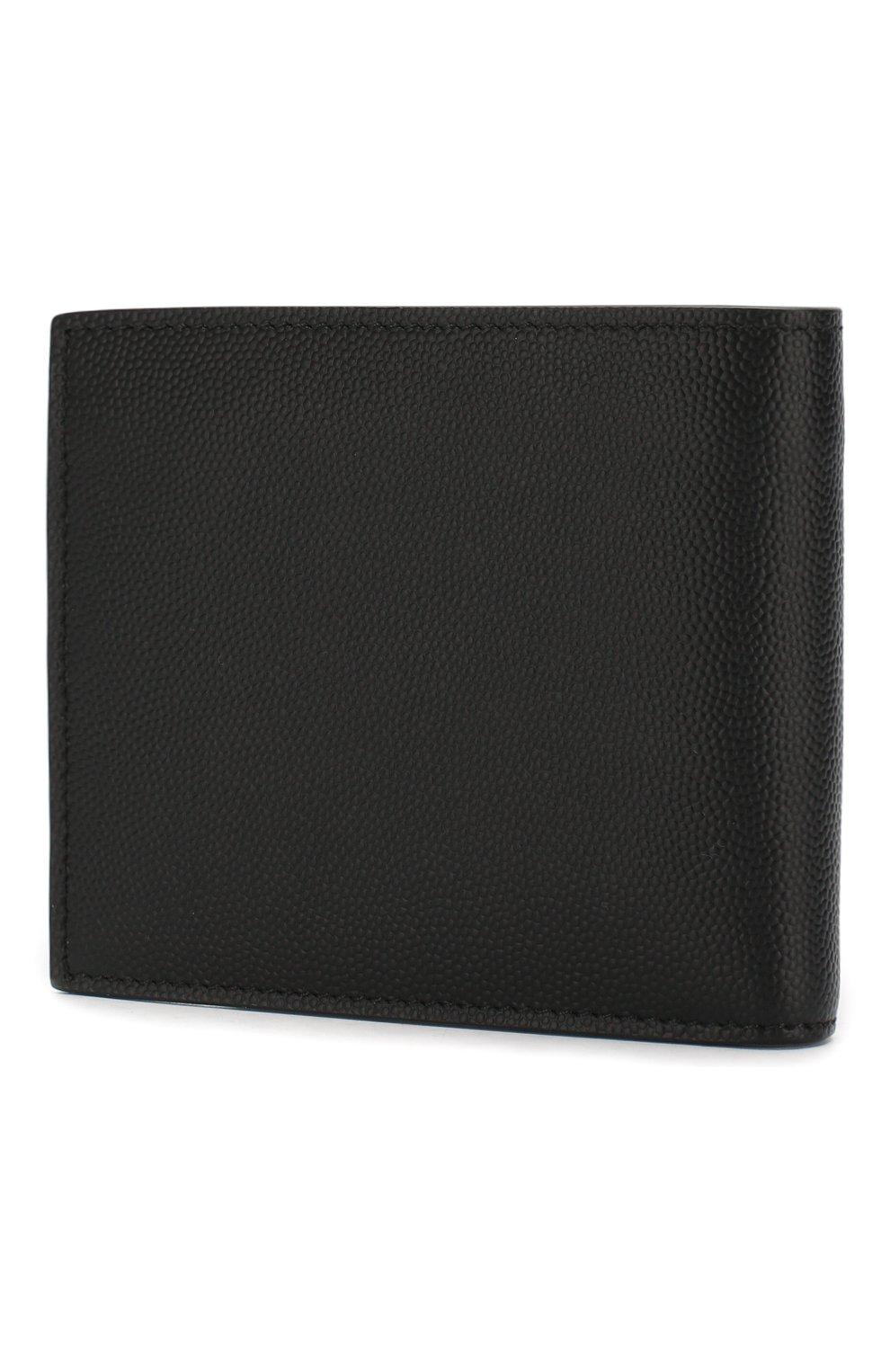 Мужской кожаное портмоне SAINT LAURENT черного цвета, арт. 453276/BTY0U   Фото 2