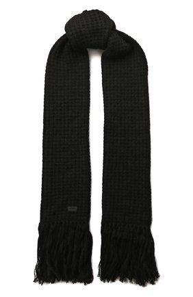 Мужской шарф SAINT LAURENT черного цвета, арт. 580709/3YC68 | Фото 1