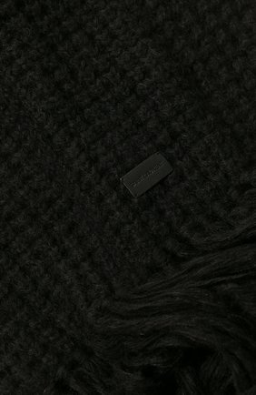 Мужской шарф SAINT LAURENT черного цвета, арт. 580709/3YC68 | Фото 2