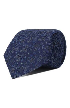 Мужской галстук из смеси шелка и шерсти KITON синего цвета, арт. UCRVKLC08F60 | Фото 1